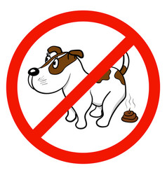 a sign that forbids walking with dogs vector image vector image