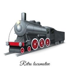 Retro Locomotive vector image vector image