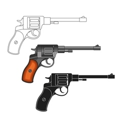 Set of revolvers vector image vector image
