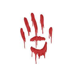 Bloody handprint with streaks vector