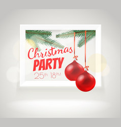 christmas greeting card layout party announcement vector image
