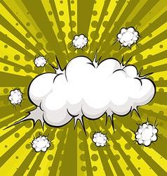 Cloud explosion vector image