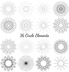 Set of circle elements vector image