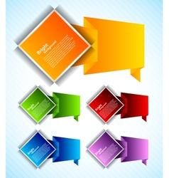 Set of design element vector image