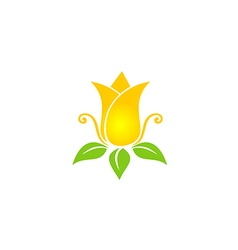 Tulip flower beauty nature logo vector