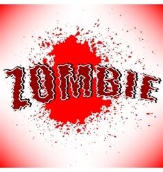 Zombie Title vector image