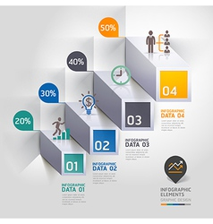 3d business infographic staircase diagram vector image vector image