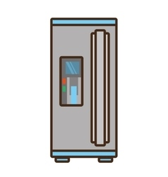 Cartoon refrigerator appliance kitchen domestic vector