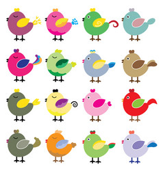 cute birds vector image vector image