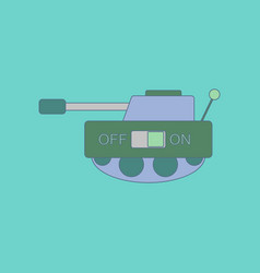 flat icon on background kids toy tank vector image