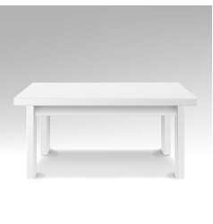 white empty square table isolated furniture vector image
