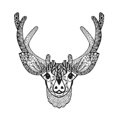Zentangle stylized baby deer Sketch for tattoo or vector image vector image