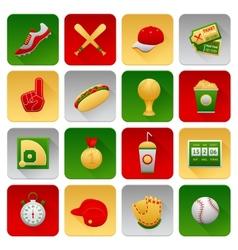 Baseball Icons Set vector image vector image