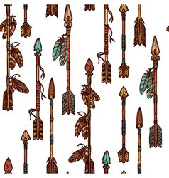 Hipster Hand Drawn Arrows Seamless Pattern vector image