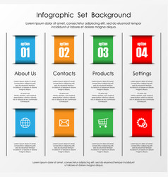 infographic stripes with text vector image