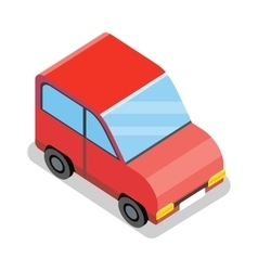 Isometric Red Car Icon vector image vector image