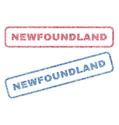 Newfoundland textile stamps vector