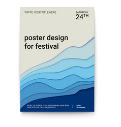 poster design with a pattern of cut paper the vector image vector image
