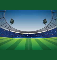 soccer football stadium background vector image vector image