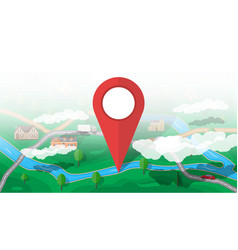 suburban nature map gps and navigation vector image vector image