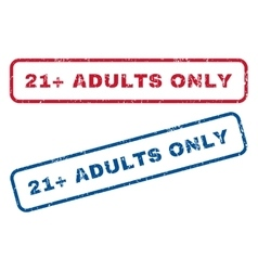 21 Plus Adults Only Rubber Stamps vector
