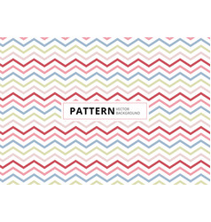 abstract blue pink red color chevron pattern vector image