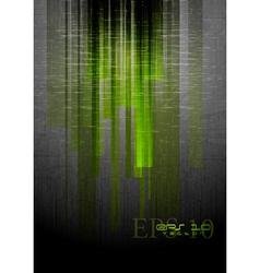 Abstract grunge hi-tech design vector