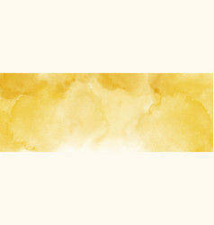 abstract light yellow watercolor for background vector image