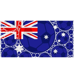 Australia soccer balls vector