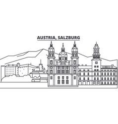 Austria salzburg line skyline vector