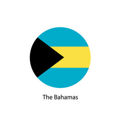 bahamas flag in round button of icon vector image