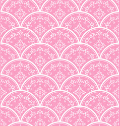 Beautiful pink damask background vector