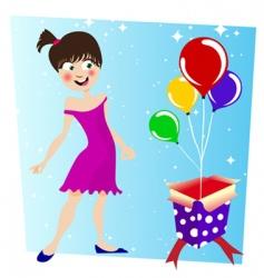 Birthday surprise vector