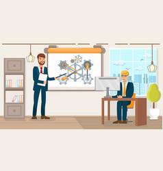 Business development flat vector