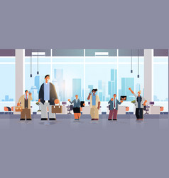 business people team working together men women vector image