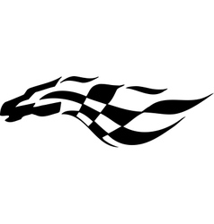 Checkered flag - symbol racing vector image vector image