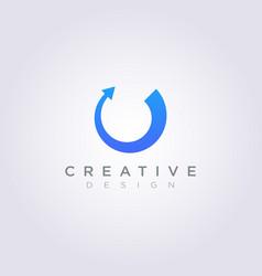 Circle with arrow design clipart symbol logo vector