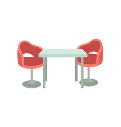 couch and table in resting room cartoon banner vector image