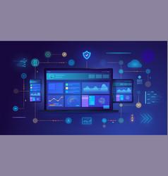 cross platform website on digital devices vector image