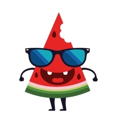 Cute watermelon character design cartoon vector