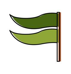 Flag pennant symbol vector