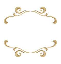 frame with ornamental floral gold elements vector image