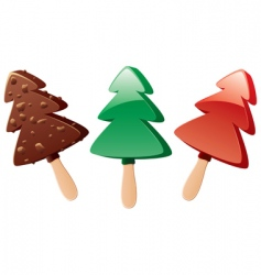 Fruit and chocolate popsicles vector