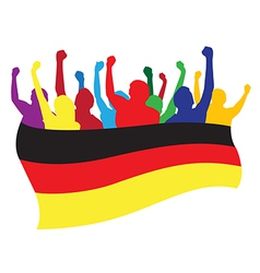 Germany fans vector image