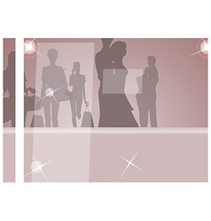 Glamorous Fashion Silhouettes vector