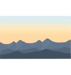 Gray mountain scenery vector image