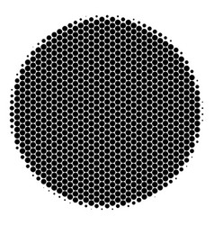 Halftone dot filled circle icon vector