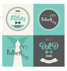 happy father day family holiday retro greeting vector image