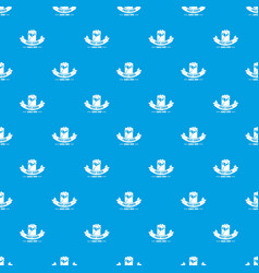 hot fast food pattern seamless blue vector image