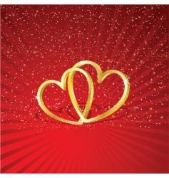 interlocking hearts vector image